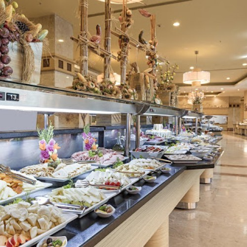 Buffet in miracle resort